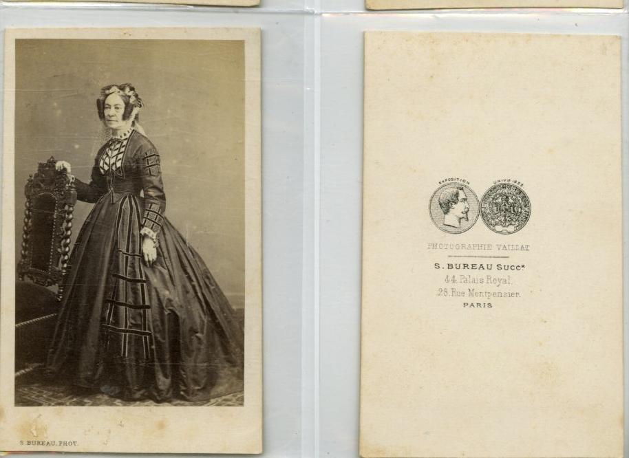s bureau paris une femme pose cdv vintage albumen carte de visite tirage a ebay. Black Bedroom Furniture Sets. Home Design Ideas