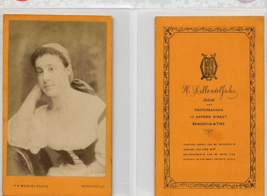 mendelssohn, une femme pose cdv vintage albumen carte de visit
