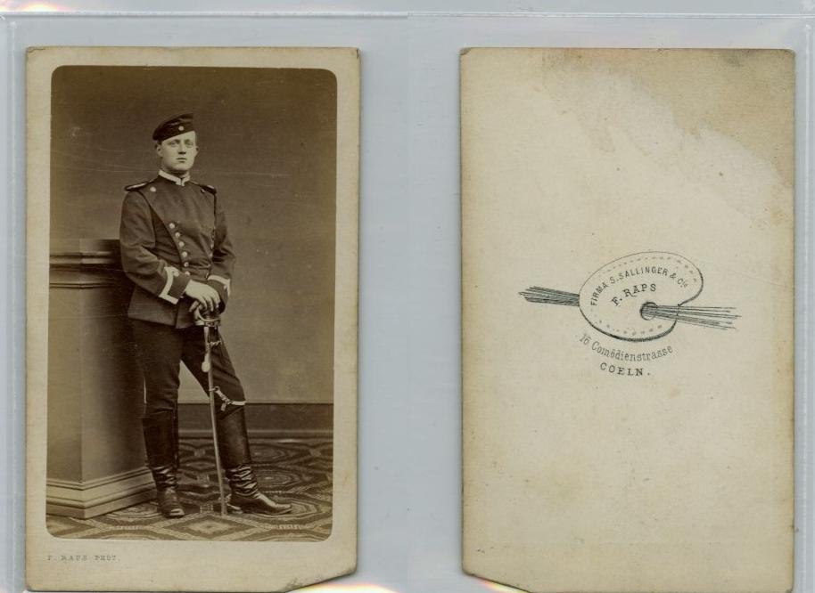F. Raps, Portrait dun militaire CDV vintage albumen carte de visite, Ti  eBay
