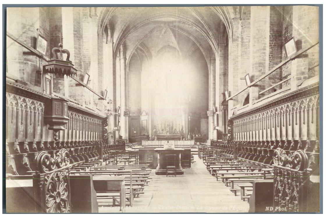 Nd france ancienne abbaye de la chaise dieu la choeur vintage albumen prin - Chaise industrielle ancienne ...