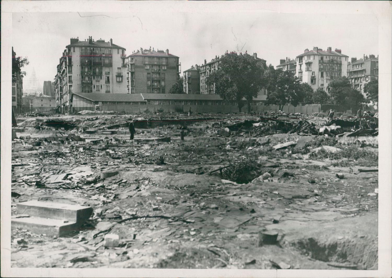 Paris 1943 grands travaux dans la zone porte de - 30 avenue de la porte de clignancourt ...
