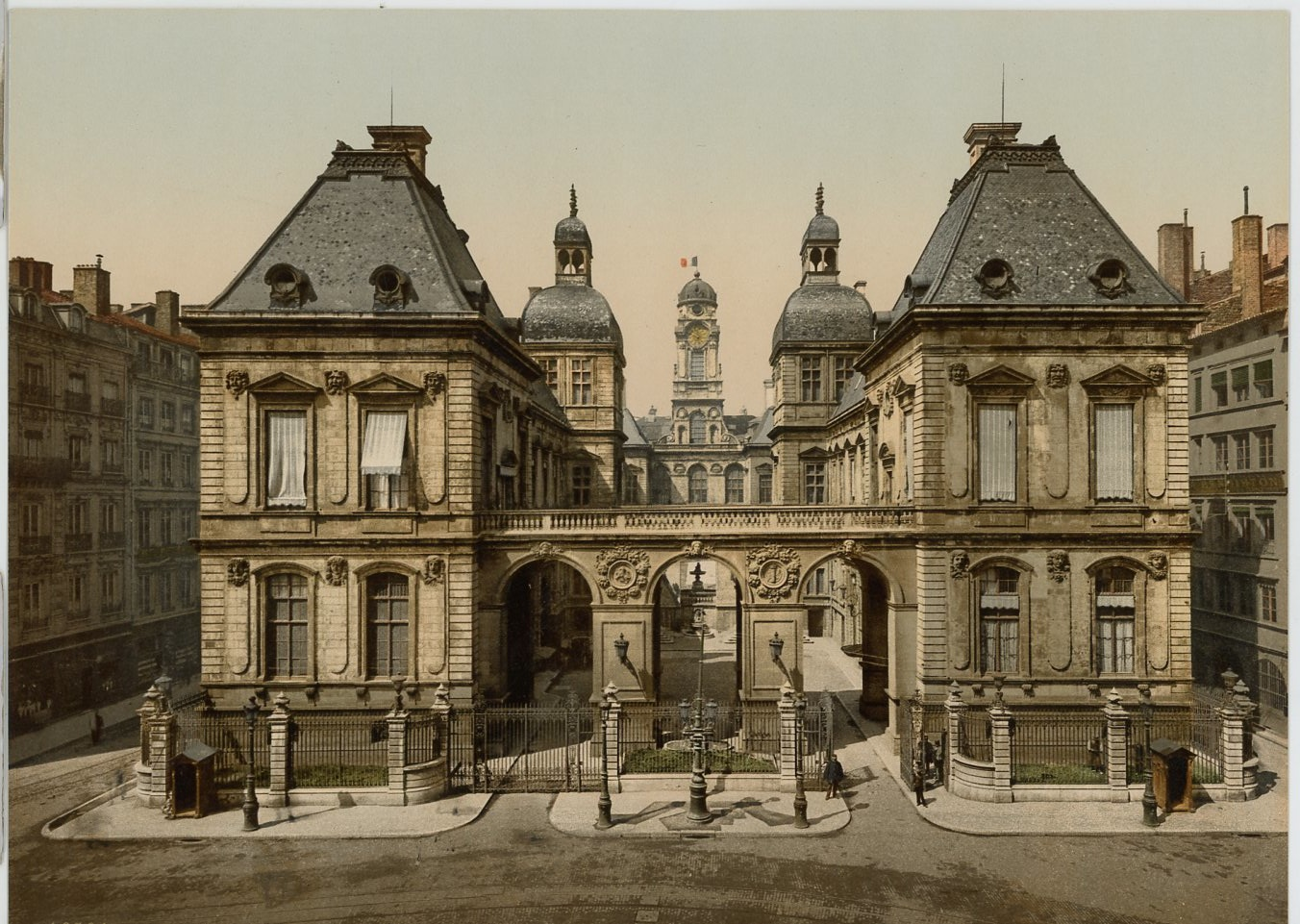 p z france lyon place de la comedie l 39 h tel de ville vintage print fr ebay. Black Bedroom Furniture Sets. Home Design Ideas