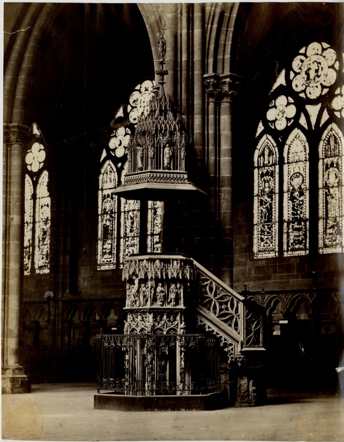 France strasbourg la cath drale interieur vintage albumen for Interieur france