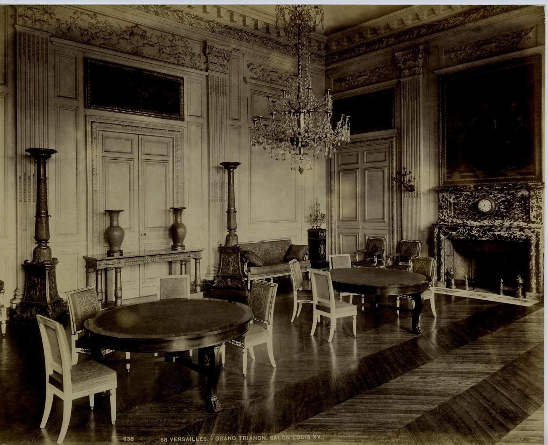 france versailles grand trianon salon louis xv vintage albumen print france ebay. Black Bedroom Furniture Sets. Home Design Ideas