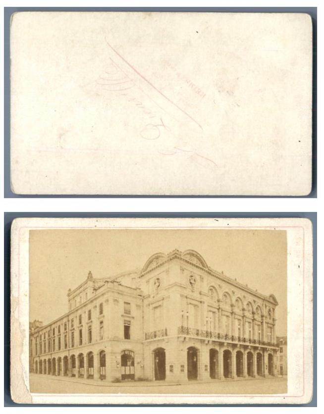 E picard france reims vue cdv vintage albumen carte de - Carte de visite reims ...
