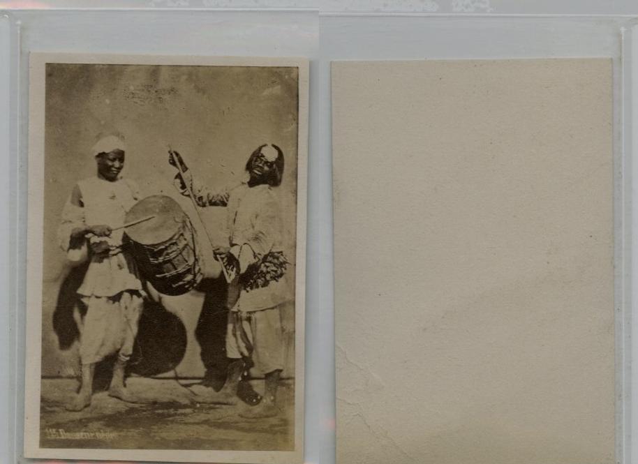 Danseurs Abyssiniens CDV Vintage Albumen Carte De Visite Tirage