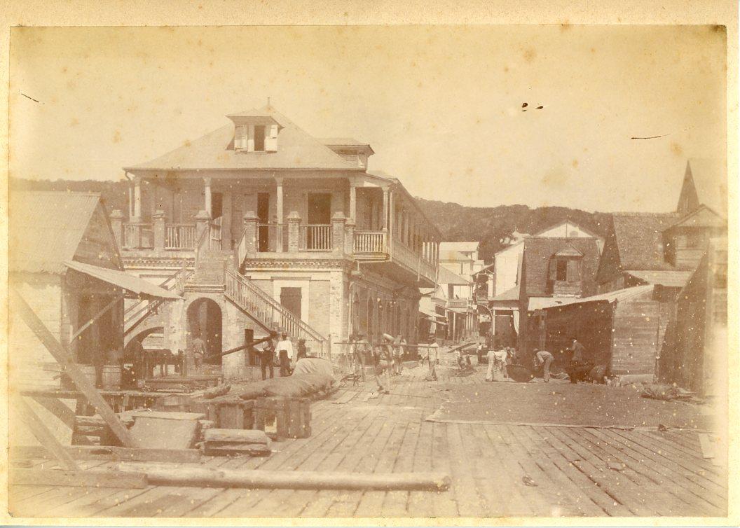 Antilles Francaises Maison Coloniale Vintage Albumen Print
