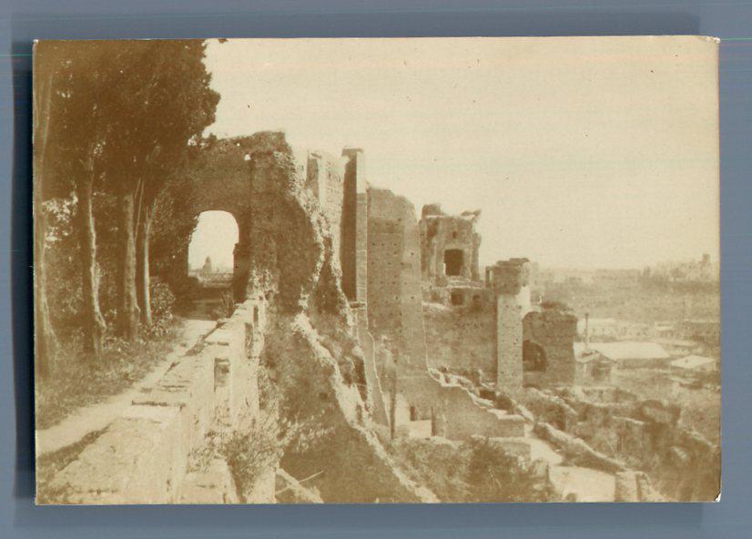 Italia Roma Il Palatino Dalla Terrazza Della Villa Mills Vintage Citrate Prin Ebay