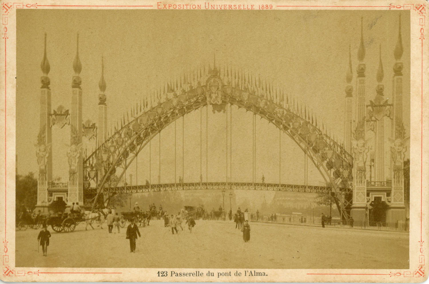 france  paris  exposition universelle de 1889  passerelle