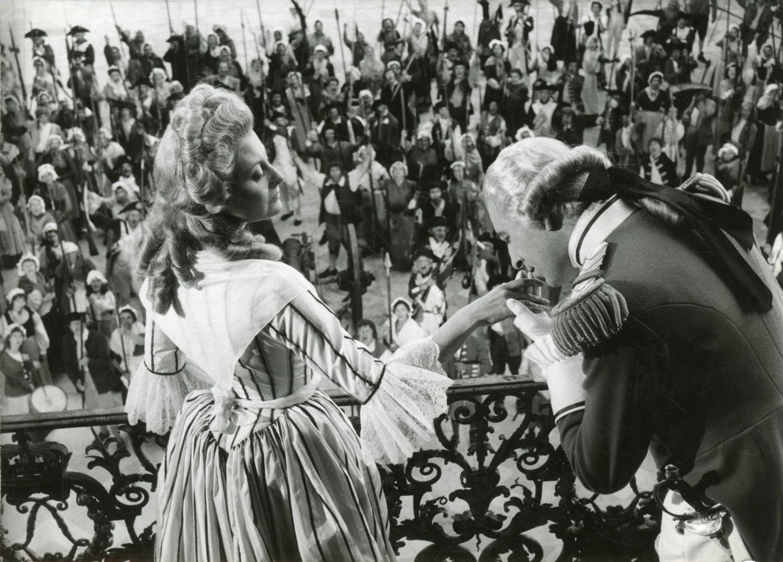 "Actrice Michèle Morgan dans ""Marie-Antoinette"", 1955, vintage silver print  vinta | eBay"