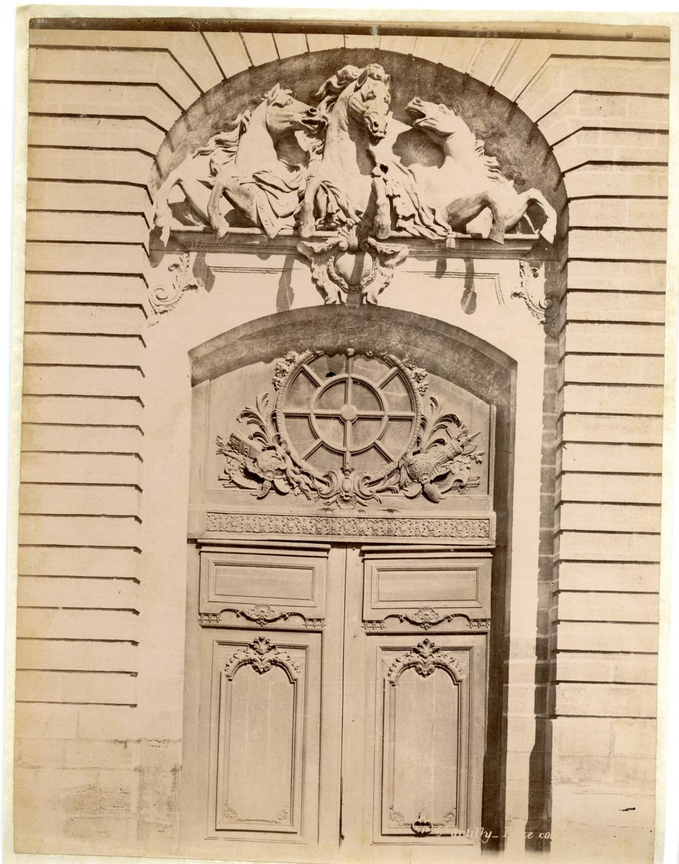 France, chateau de chantilly, door vintage albumen print tirage. albumen   eBay